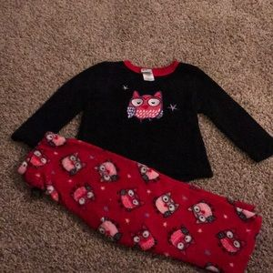 Healthtex Fleece Soft Warm Black Res Owl Pjs